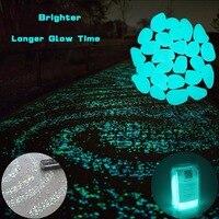 400 Pz Glow in The Dark Giardino Ciottoli Glow Pietre rocce Passerelle Giardino Path Patio Prato Giardino Yard Decor, pietre luminose