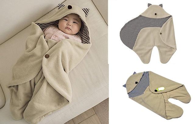 Baby Receiving Blanket Brown Color Rayon Newborn Wraps Batman Shape Winter Outdoor Baby Swaddle Fleece