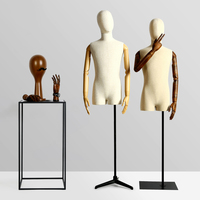 Male Mannequins Linen Fabric For Fashion Dress Upper Body Mannequin Adult Mannequin For Clothes Cosmetology Window
