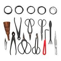 16Pcs garden bonsai trimming kit carbon steel kit scissors and versatile nylon toolbox Extensive Cutter Scissors Kit WWO66