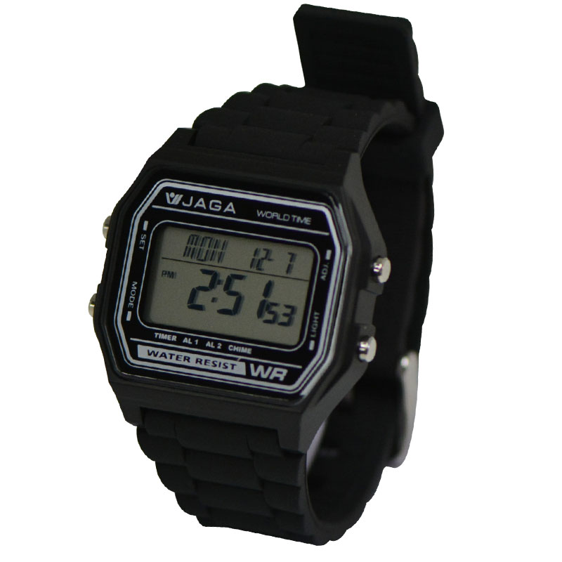 straight normal imperfect watches square black