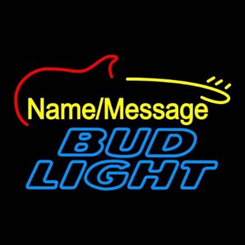 Bud Light Electric Guitar Neon Signs Beer Sign Real