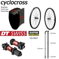 Super Light Weight Cyclocross Wheelset 700C Carbon Fiber Gravel Bike Wheel With DT Swiss 240 Disc Brake Sapim CX Ray Spoke