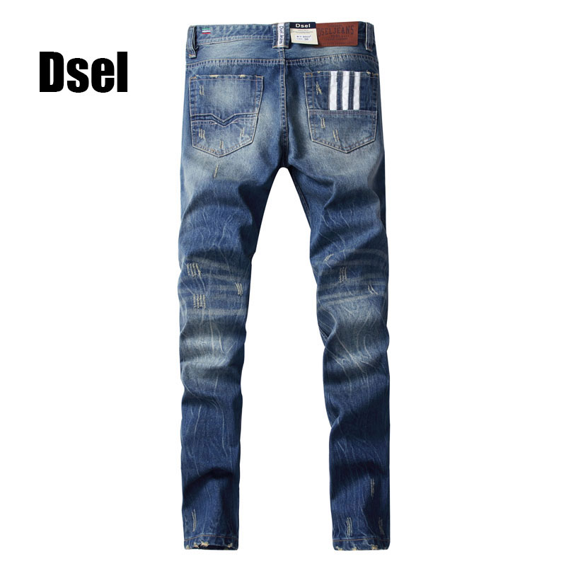 2017 New Dsel Brand Jeans Men Famous Blue Men Jeans Trousers Male Denim Straight Cut Fit Men Jeans Pants,Blue Jeans,H9003 2017 new designer korea men s jeans slim fit classic denim jeans pants straight trousers leg blue big size 30 34