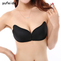 YUFEIDA New Arrival Invisible Bra Fly Bra Push Up Bra Self Adhesive Strapless Backless Seamless Silicone