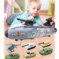 1Set Military Submarine Toy with 6 Pcs Car Set Kids Boys Birthday Gift Awards Baby Diecasts Toy Vehicles