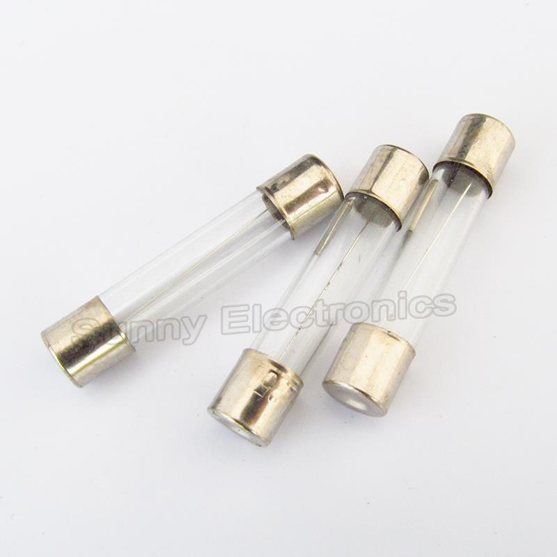 F1AL250 V Fusible de Vidrio soplado r/ápido de 1 Amp 250 V 6 mm x 30 mm