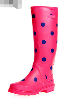 Aliexpress.com : Buy New women knee high rubber rain boots girl ...