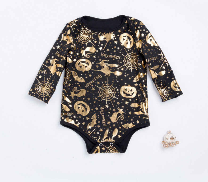 New Halloween Costumes Baby Girl Skull Rompers Cute Toddler Newborn Cotton Jumpsuit Infantil Holiday Clothes For Party Gifts