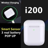 i200 tws Aire 2 bluetooth earphone PK W1 H1 Sensor Tap control Earbuds Wirless charging PK i10 i10tws i12 i30 i60 i80 i100 TWS