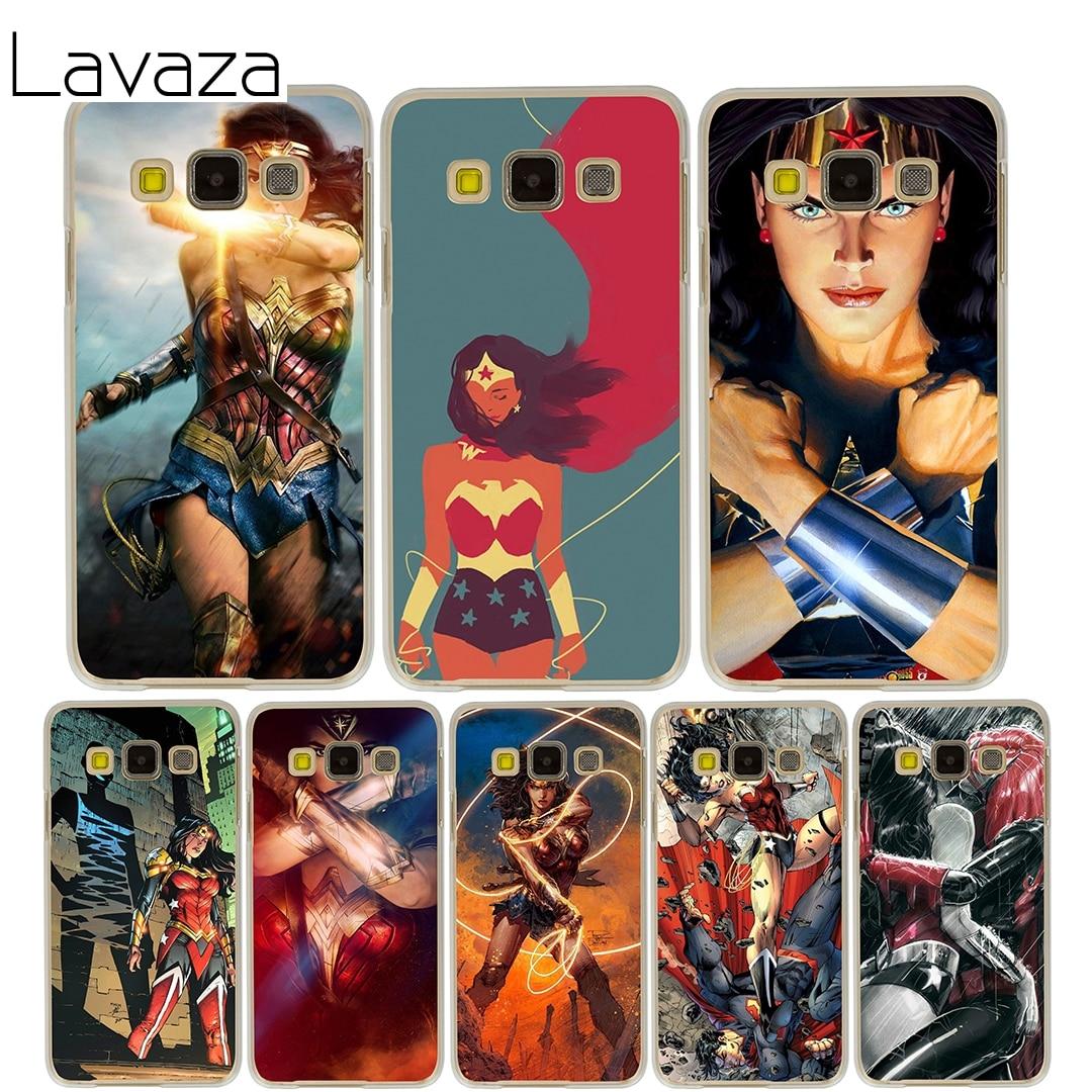 Lavaza Wonder Woman Case for Samsung Galaxy A3 A5 2015 2016 2017 A8 Plus 2018 Note 8 5 4 3 2 Grand 2 Prime