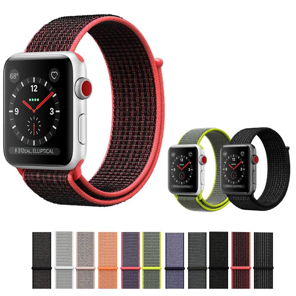 9cdd527bf42 Condição   Novo com Etiqueta. Pulseiras de Relógio loop de esporte para  apple ...