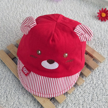 Bear Face Newborn Baby Baseball Cap