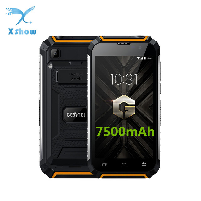 Geotel G1 7500mAh Big Battery Mobile Phone 5.0 Inch HD MTK6580A Quad Core Android 7.0 2GB RAM 16GB ROM 8MP Power Bank Smartphone