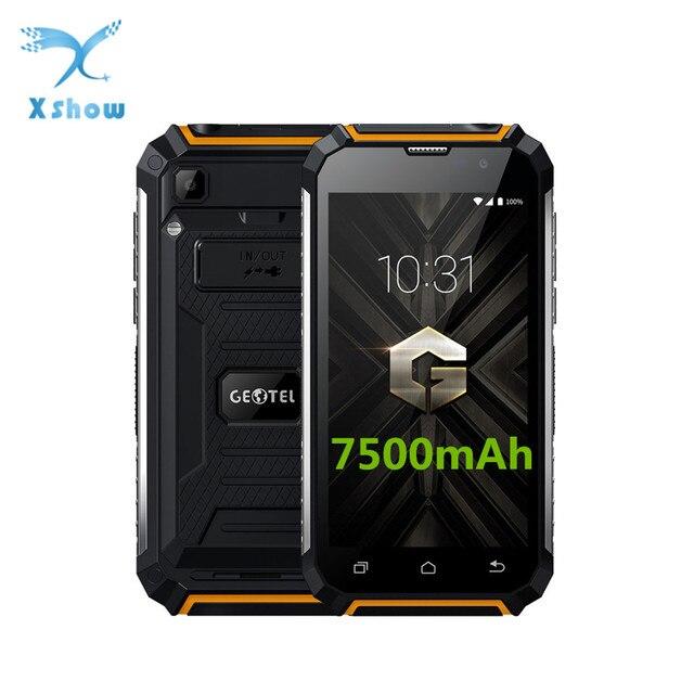 Geotel G1 grande 7500 mAh de la batería del teléfono móvil de 5,0 pulgadas HD MTK6580A Quad Core Android 7,0 2 GB de RAM 16 GB ROM 8MP banco de energía Smartphone