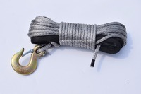 Free Shipping 1 4 50ft Grey Winch Rope Hook Durable UHMWPE Rope For ATV UTV