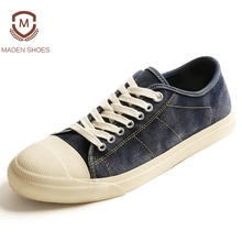 Maden 2018 Spring Japan Kurume Style Men Vulcanized Shoes Retro Cow Suede High Quality Sneakers Handmade Flats Zpatos Hombre