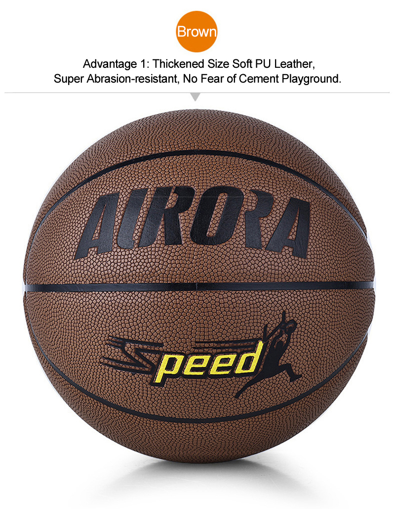 FURRA Professional Standard Basketball Abrasion-Resistant PU Skin Durable Butyl Tube Basketball for Adult Match Trainning SPEED (10)