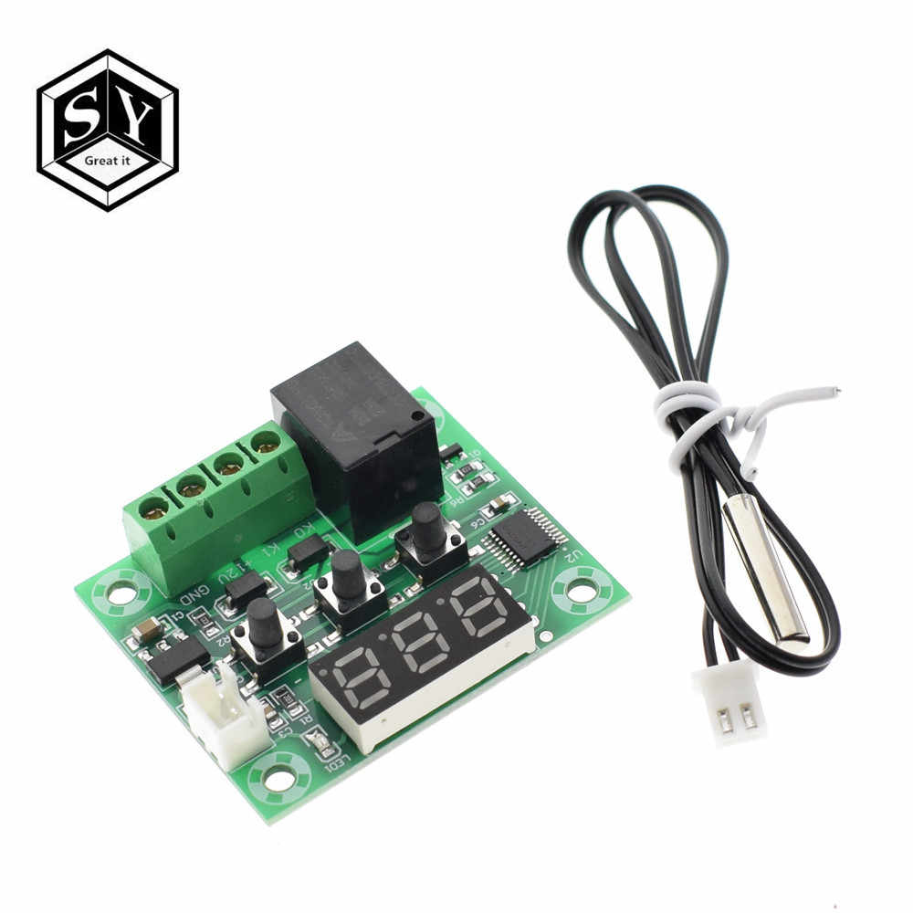 W1209WK W1209 DC 12V LED Digital Thermostat Temperature Control Thermometer Thermo Controller Switch Module + NTC Sensor