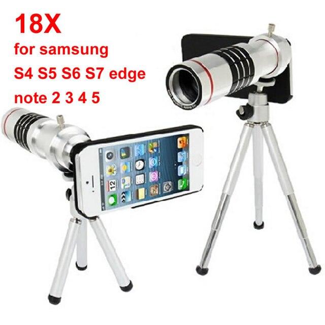 Мобильный телефон мобильный телефон 18x Зум Камеры оптического Телескопа телеобъектив Для Samsung note 2 3 4 5 galaxy S4 S5 S6 S7 край