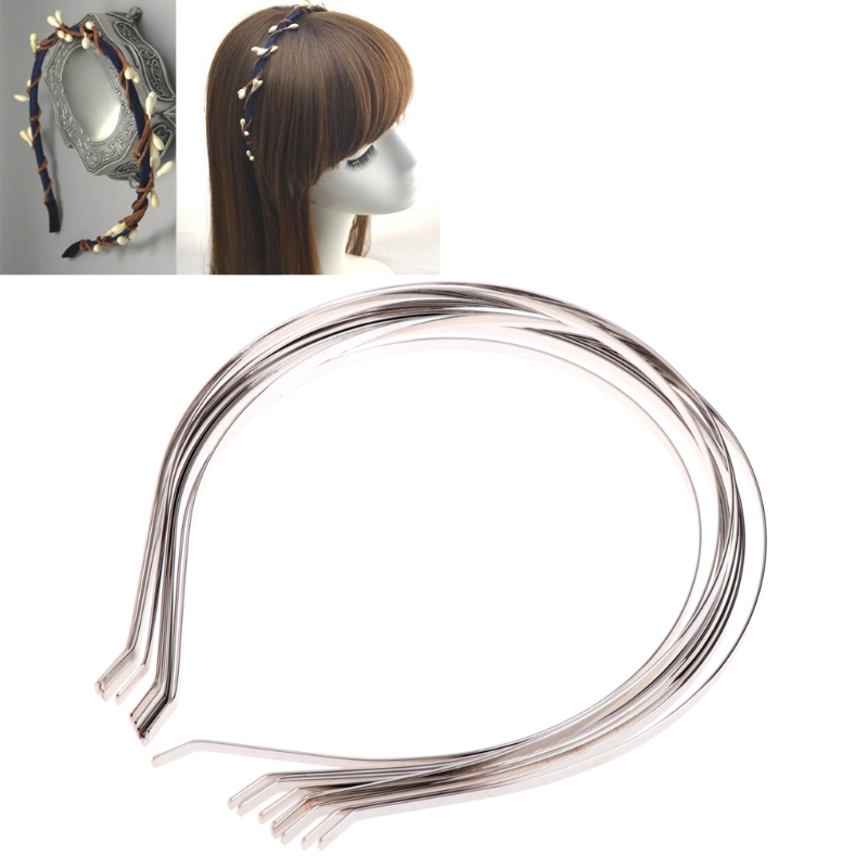 10 Pcs Brief Head Band Silver Hair Band Accessories Base Findings With DIY Cover in Jewelry Findings Components from Jewelry Accessories