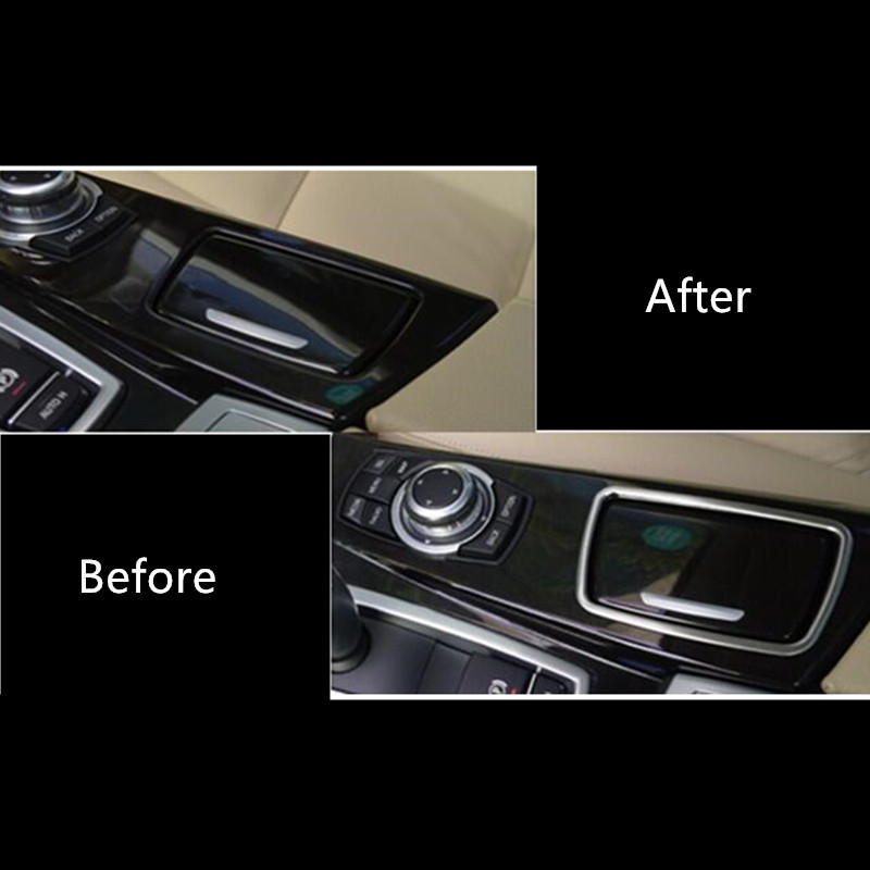 fb518cf05cc5 Center Console Ashtray Frame Decoration Cover Trim For BMW F10 5 Series 2011  17 Stainless Steel Car styling-in Interior Mouldings from Automobiles ...