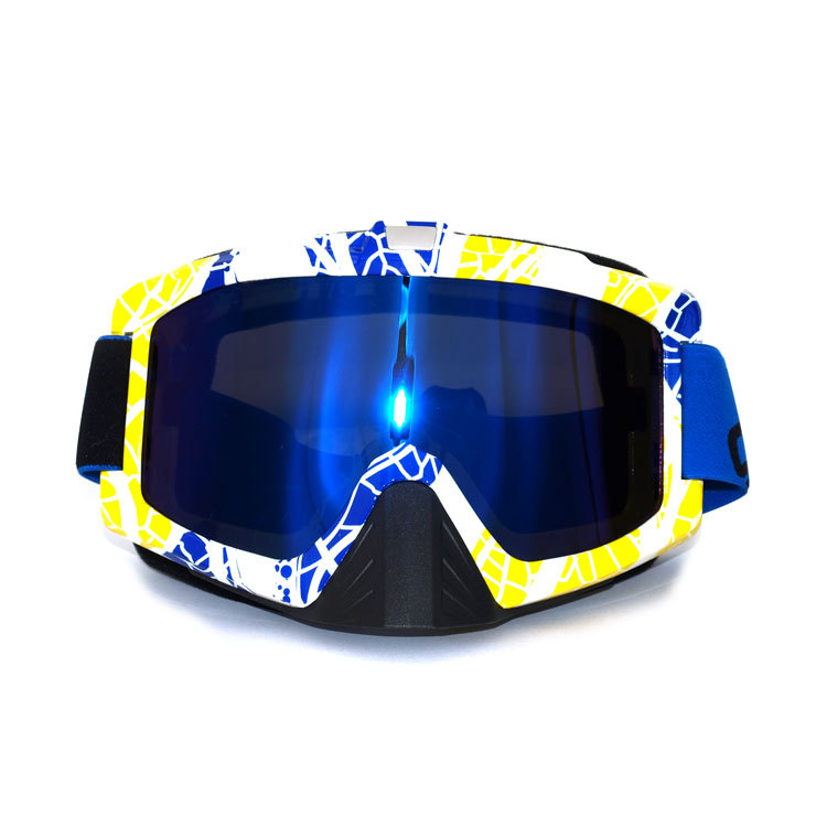 Adult Motocross Motorcycle Dirt Bike Ski ATV MX Off-Road safety Goggle Sunglasses Free shipping