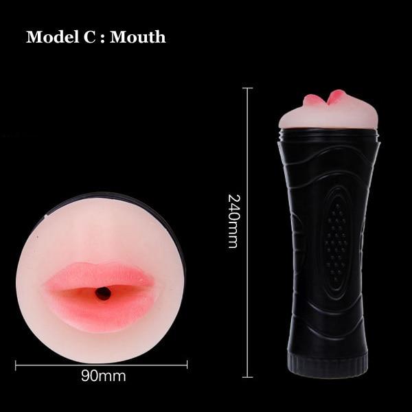 Masculino erótico Masturbadores silicona mamada coño ano stroker realista realista stroker vagina íntima Juguetes sexuales sexo Juguetes para hombres c897c8
