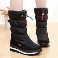 Mulheres botas de neve plataforma botas de inverno de espessura de pelúcia à prova d' água não-slip botas mulheres sapatos de inverno botas mujer