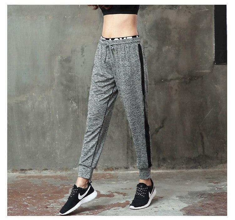 New Women Casual Breathable Workout Leggings Pants Loose Style Lace Up Elastic Fitness Leggings Women Sportswear Leggings Pants