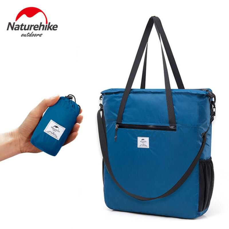 Naturehike Outdoor Travel Folding Bag Waterproof 30D Nylon Coated Silicone Portable Ultralight Sports Messenger Bag NH18B500-B