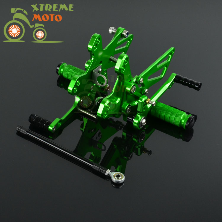CNC Adjustable Motorcycle Billet Foot Pegs Pedals Rest For KAWASAKI ZX10R 2011 2015 2011 2012 2013