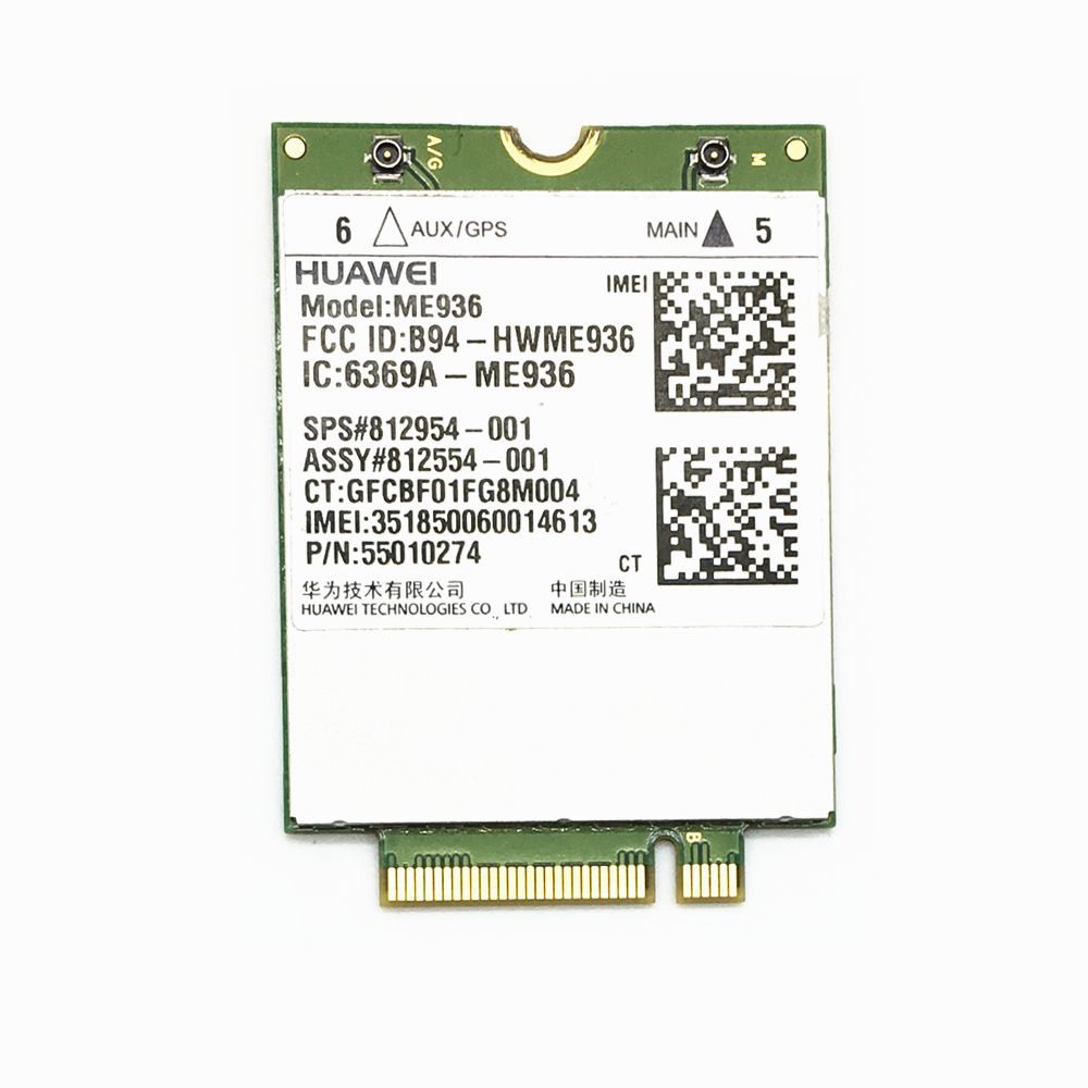 For Huawei ME936 lt4110 4G NGFF M.2 FDD-LTE WCDMA/HSDPA/HSUPA/HSPA+ WWAN network Card For HP laptop ssea wholesale new unlocked huawei me936 4g lte wcdma hsdpa hsupa hspa gprs edge ngff modules wireless 4g card free shipping