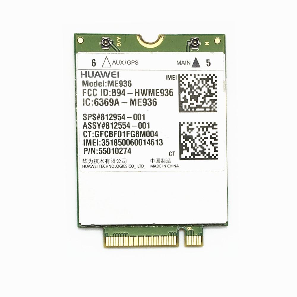 For Huawei ME936 Lt4110 4G NGFF M.2 FDD-LTE WCDMA/HSDPA/HSUPA/HSPA+ WWAN Network Card For HP Laptop