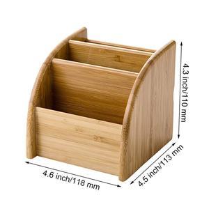 Image 5 - Ahşap kalem sahipleri masaüstü masaüstü düzenleyici saklama kutusu masa için ofis malzemeleri