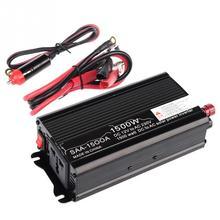 1500W DC 12V-AC 220V/240V Car Charger Car Solar Power Inverter Converter Adapter Modified Sine Wave Form With USB Black