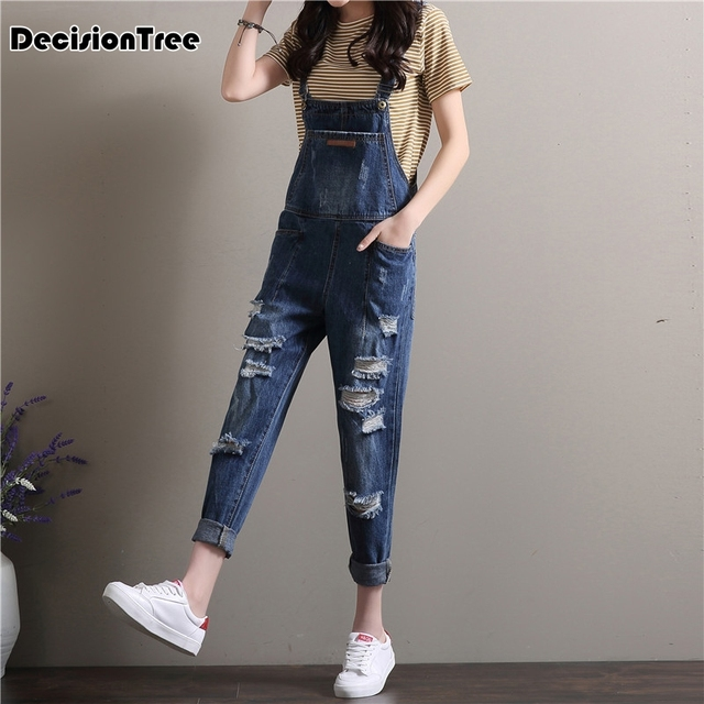 fde759f9bb0 2019 new casual itfabs women baggy denim jeans bib full length pinafore  dungaree overall jumpsuit pants