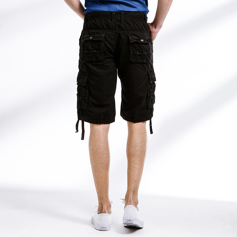 Image 2 - 2018 Cargo Shorts Men Fashion Beach Military Army Casual Combat New Brand Multi Pockets Clothing Solid Color Cotton Plus Size F9Casual Shorts   -