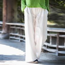 2017 Casual Loose Wide Leg Pants Women Original Designer Woman Linen Cotton Pants Plus Size Vintage