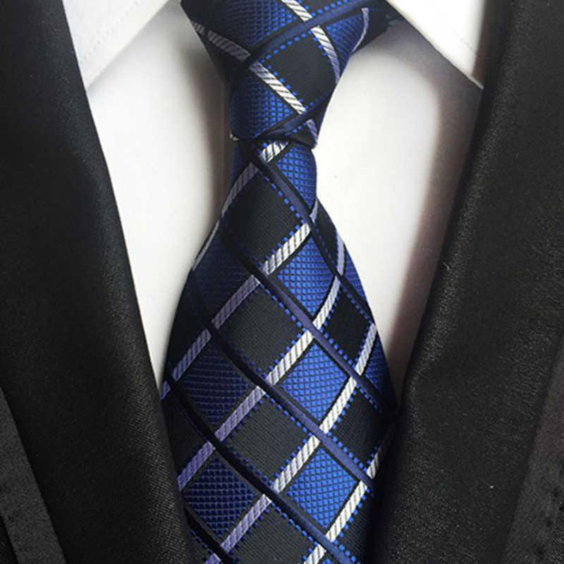 Галстук для шеи мужские обтягивающие Галстуки красные, синие, белые цветные жаккардовые узкие вечерние платья жениха клетчатый галстук