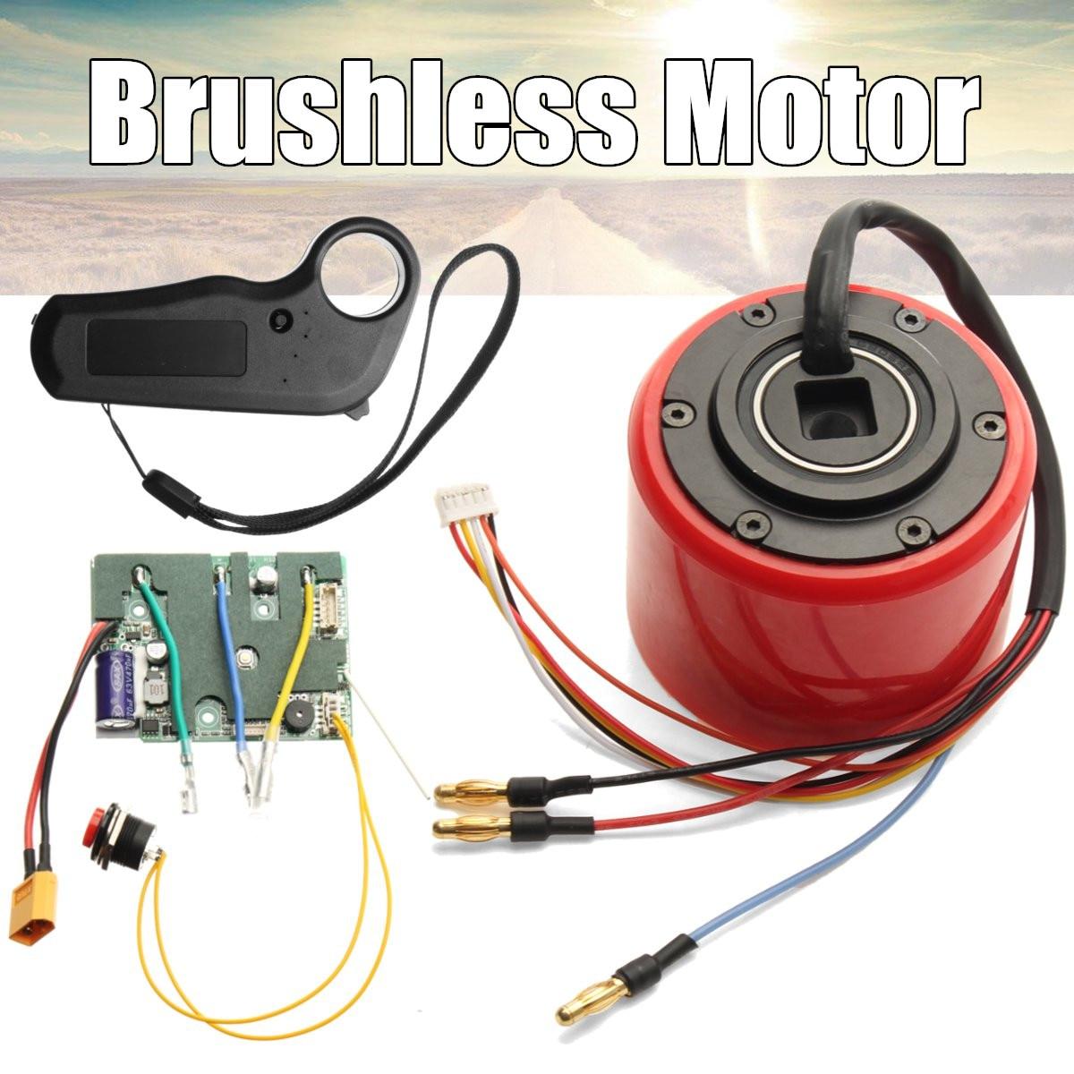 Kit de moteur de moyeu de planche à roulettes électrique avec capteur de Hall sans fil 2.4G transmission à distance pour bricolage moteur de planche à roulettes électrique