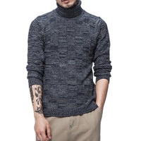 Brand Clothing 2017 Winter Mens Cashmere Sweater Warm Turtleneck Sweater Men Slim Fit Pullover Knitted Double