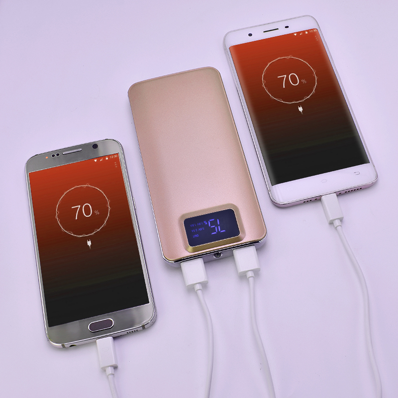 FT Consumer digital Store 16000mah External Battery quick charge Dual USB LCD Power bank Portable Mobile phone Charger