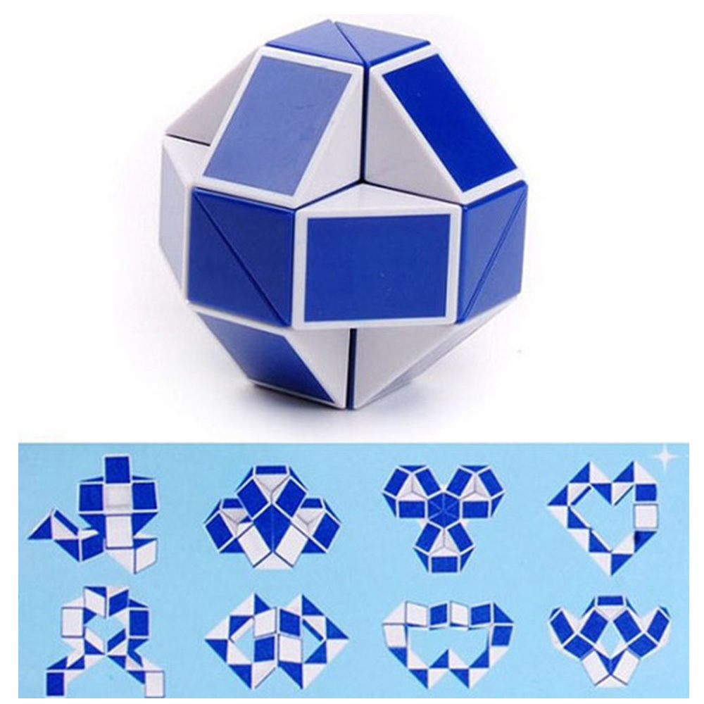 3D Magic Cube Segments Speed Snake Magic Cube Puzzle Sticker Educational Toys Kid For Children