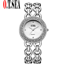 Trend O.T.SEA Model Luxurious Ladies's Informal Watches Ladies Trend Costume Rhinestone Quartz Watch Relogios Feminino 2101