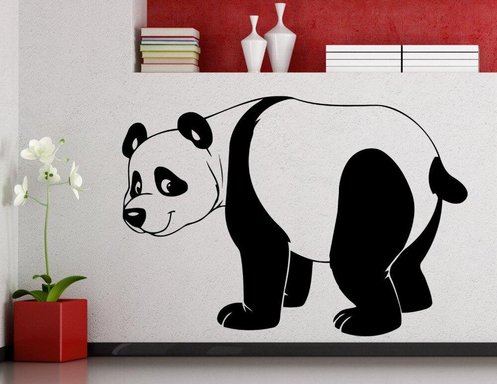 4dc8e7038 الدهون مضحك الباندا خيال الفن ملصقات الحائط ديكور المنزل غرف الاطفال لطيف  الفينيل جداريات المشي نمط الباندا الكبيرة Wm-422