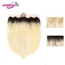 Эффектом деграде(переход от темного к 1B/613 блондинка 13x4 швейцарский шнурок Фронтальная застежка прямые бразильские волосы Virgin(не подвергавшиеся химическому воздействию) волосы светло-коричневого цвета, 130% предварительно вырезанные часть