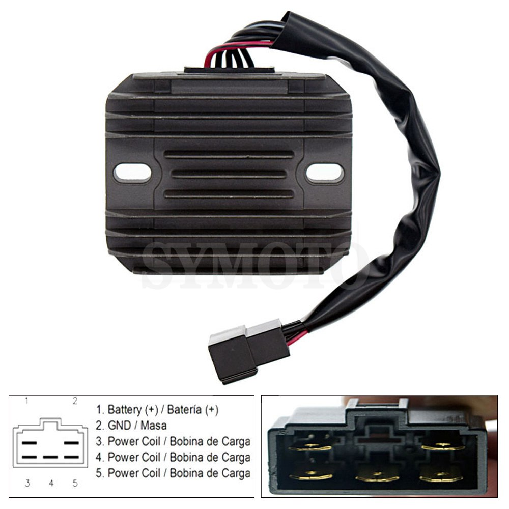 Motorcycle Regulator Voltage Rectifier For <font><b>Suzuki</b></font> <font><b>VL1500</b></font> <font><b>Intrude</b></font> 1998 1999 2000 2001 2002 2003 2004 VL 1500 SV650 SV650S 1999-02 image