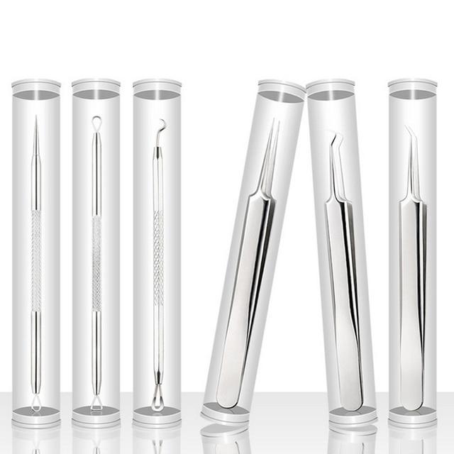 VVHUDA removedor de espinillas Extractor de pinzas herramienta Comedone Pimple Extractor de acné