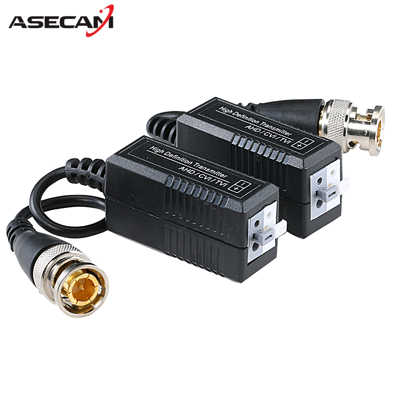 High quality BNC to UTP Cat5/5e/6 Video Balun HD Transceivers Adapter Transmitter Support 720P 1080P AHD CVI TVI Camera 200M bnc video balun passive transceiver coax cat5 camera utp cable coaxial adapter for 200 450m distance ahd hdcvi tvi camera